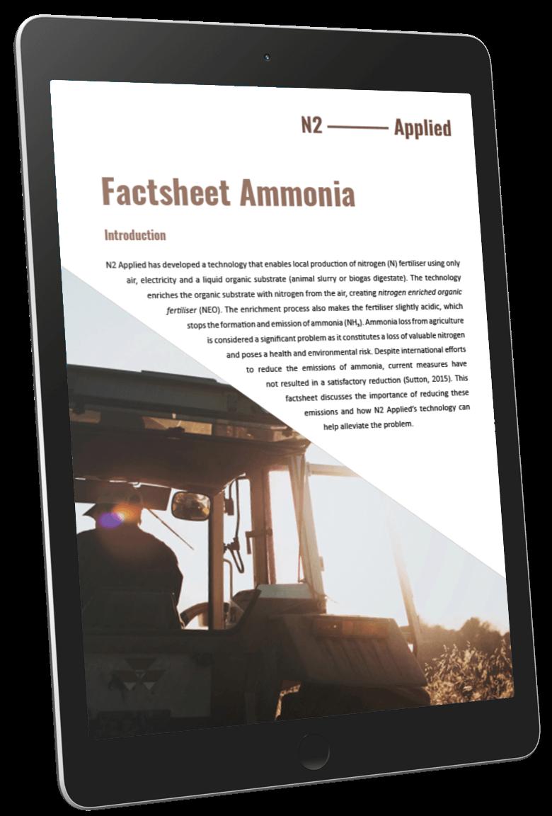Factsheet Ammonia - iPad